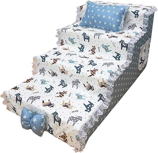 GUOF Escaleras de Perro Escalera para Perros de 4 Pasos en Cama Alta, rampa para Mascotas, Escalera para Mascotas, Gato y Perro Escalera Mascota pequeña (Color : A, Size : 80x40x40cm): Amazon.es: Hogar