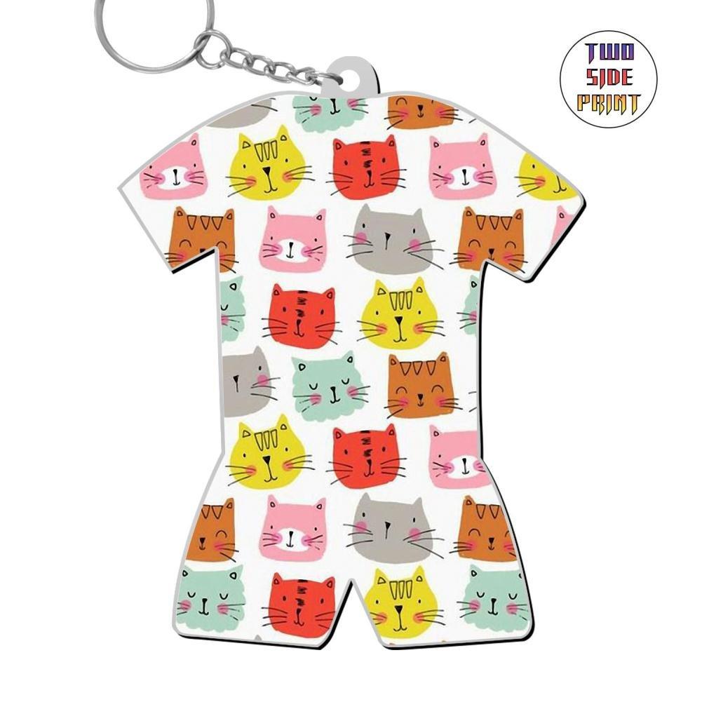 Zinc Alloy Metal Home Key Chain,Print Cats,Gift For Friends Men Women