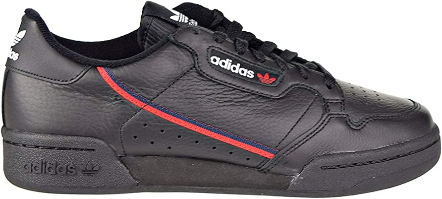 adidas Men's Continental 80 Originals Black/Scarlet/Collegiate Navy Casual  Shoe 8.5 Men US