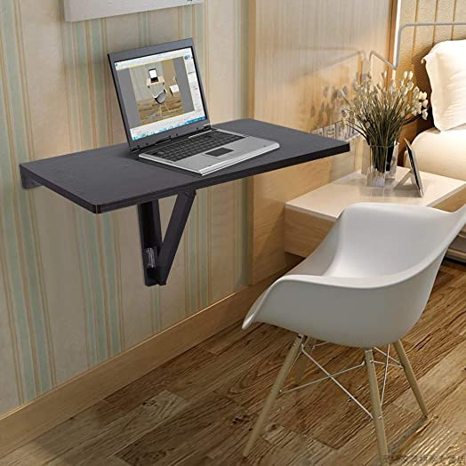 Editors' Choice: Heberry Folding Table Modern Wall-Mounted Floating Table Simple Space-Saving Hanging Desk Laptop Desktop Computer Office Desk Househood,for Study,for Bedroom