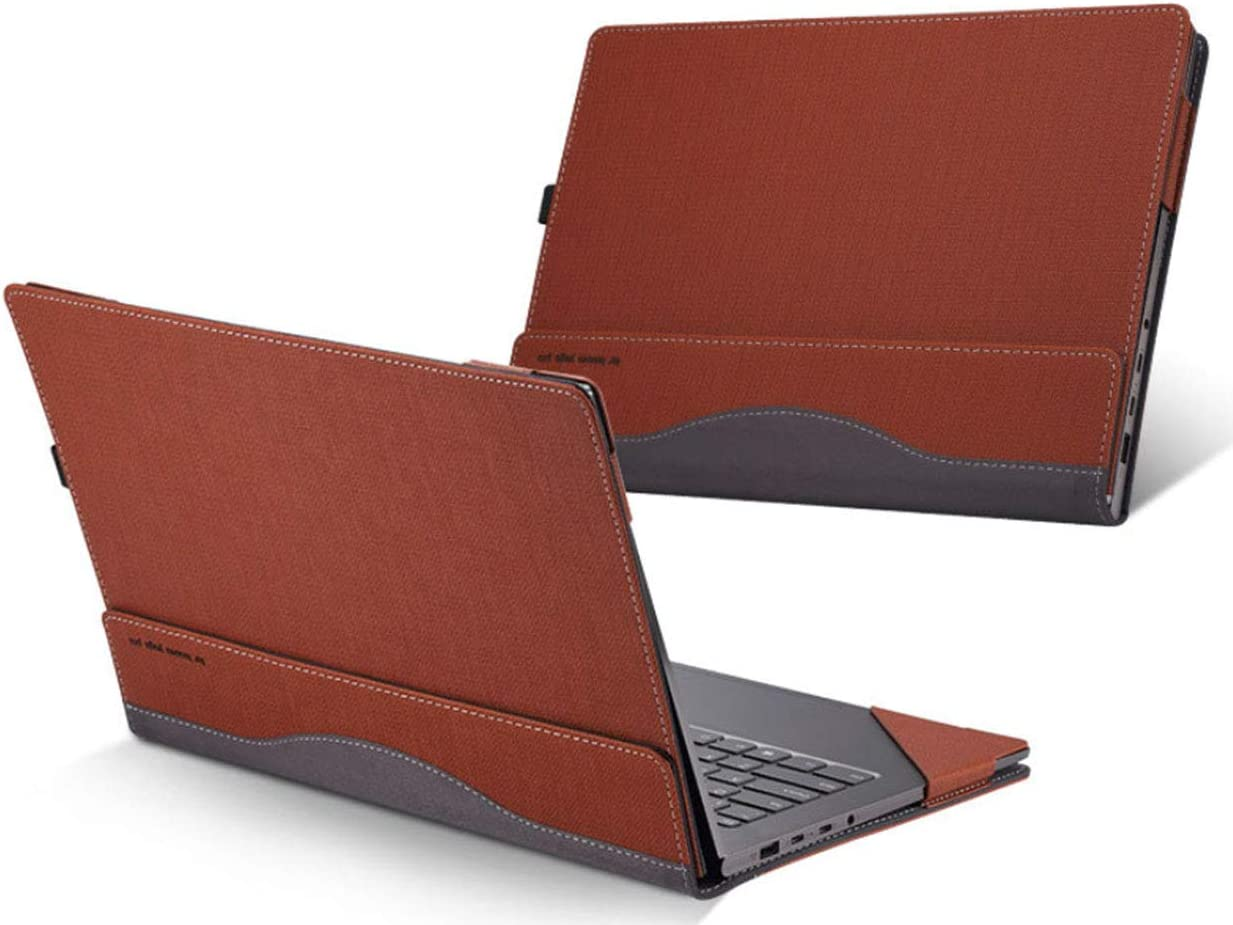 Lakikey Lenovo Yoga 920/910 Case Protective Laptop Case Cover Sleeve Folio for Lenovo Yoga 6 Pro/Yoga 5 Pro 13.9 Inch Brown