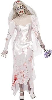 Smiffys-23295M Halloween Disfraz de novia zombi hasta que la ...