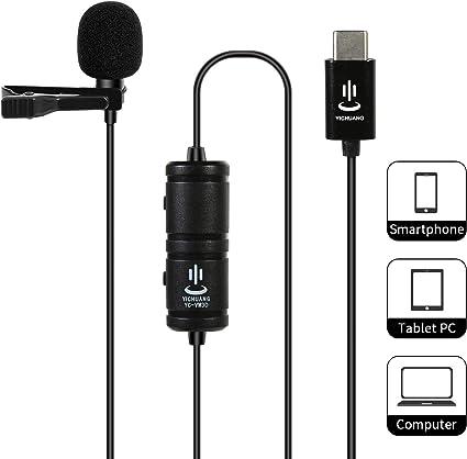 Micrófono Lavalier Profesional para Interfaz USB Tipo C Android ...