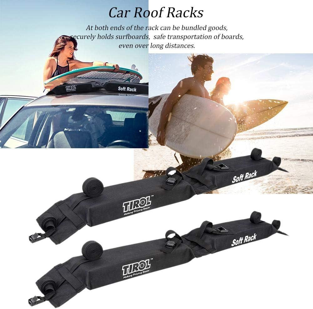 Universal Fit f/ür Autos und SUVs Autodachtr/äger Kajak-Surfbrett-Dachtr/äger Weiche und abnehmbare PVC-Dachtr/äger Tragf/ähigkeit auf dem Dach bis 60 kg