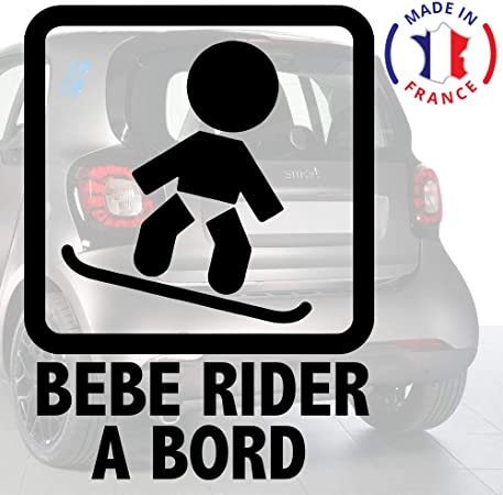 Sticker b/éb/é /à bord pour voiture B/éb/é Rider /à bord 20 cm Noir Anakiss