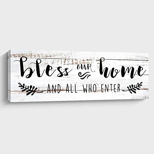 Bless This Home And All Who Enter Handmade New Home Sign//Plaque 485