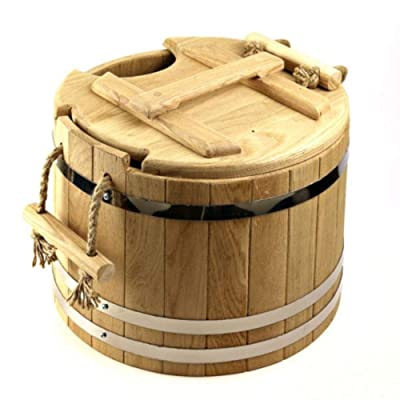 Sauna Bucket, Wooden Spa Bucket for Whisks Soaking and Aroma Infusion : Garden & Outdoor