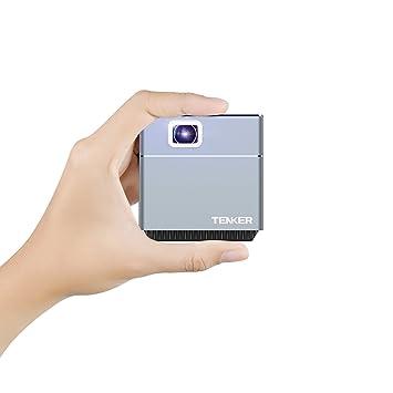 Mini Video Pro JECTOR, tenker S6 DLP Cube Projector: Amazon.es ...