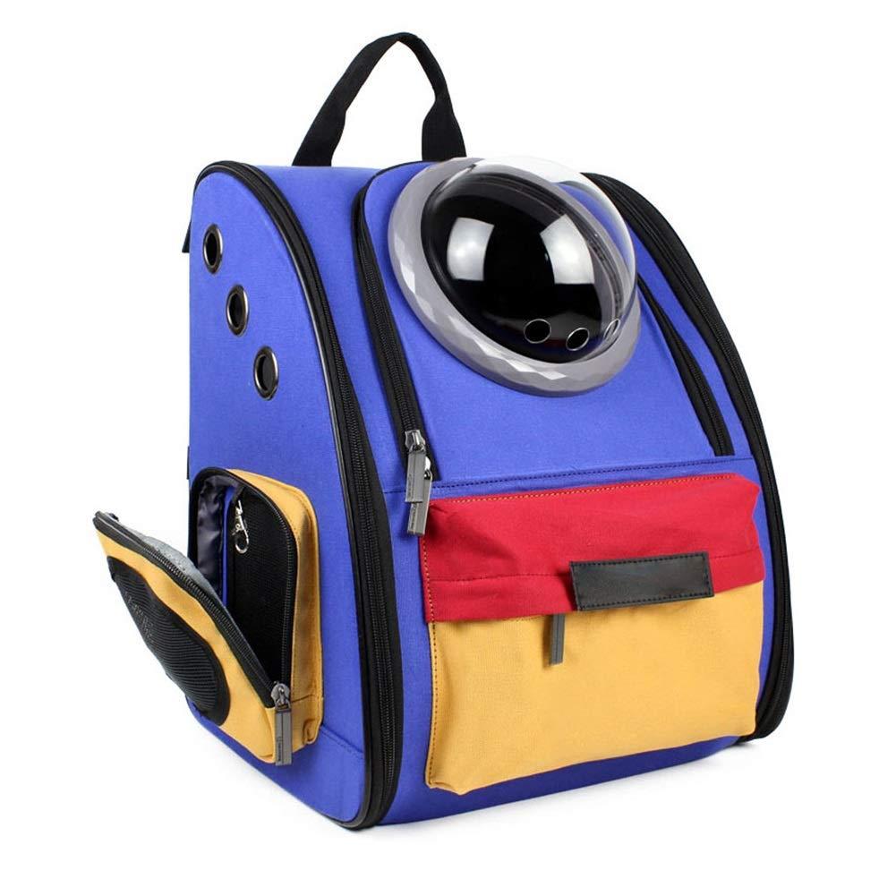 bluee Fourpiece suitRyan Pet Carrier Backpack, Pet Bag Out Of Breathable Head Out Design Shoulder Travelling Pet Bag (color   bluee, Size   Fivepiece suit)