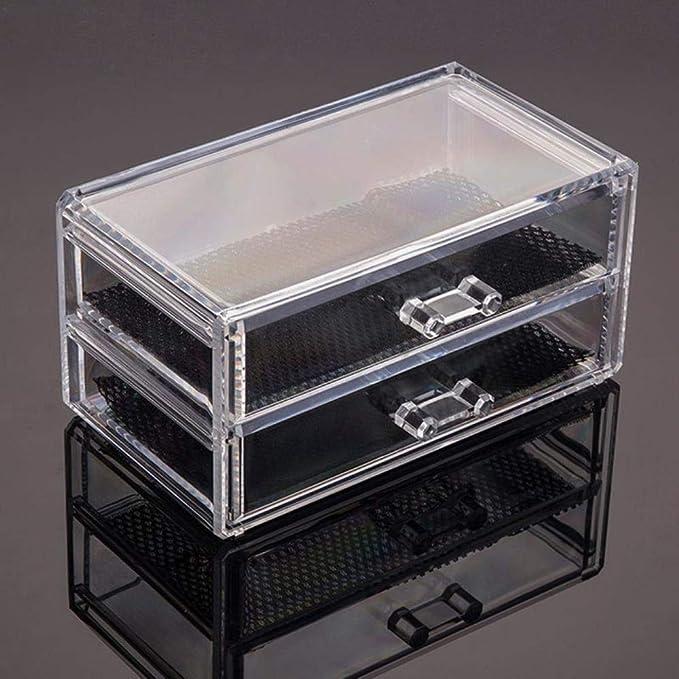 Organizador de acrílico transparente Soporte Caja de hisopos de ...