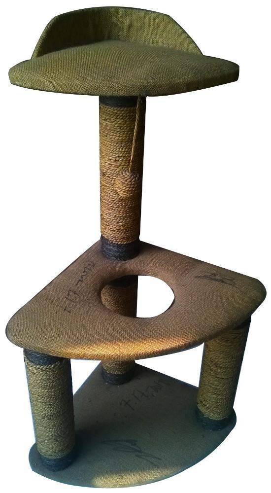 Daeou cat trees towers Pet Supplies Linen Cat crawl
