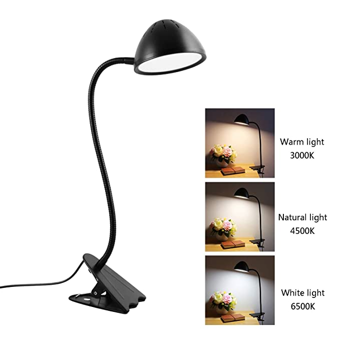 Amazon.com: Lámpara de mesa LED con clip, 10 W, alta ...