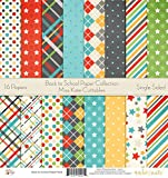 Pattern Paper Pack - Back to School - Scrapbook Card Stock Single-Sided 12''x12'' Collection Includes 16 Sheets - by Miss Kate Cuttables