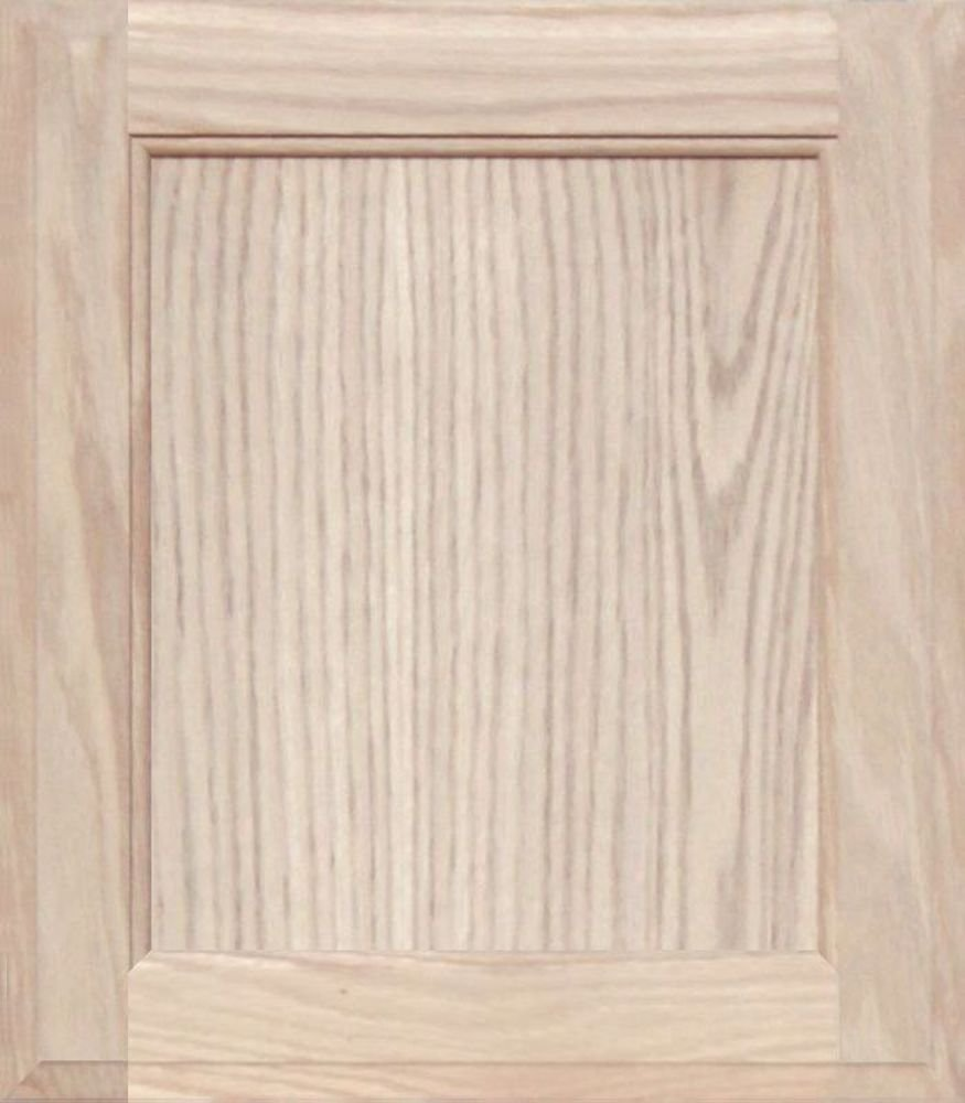 24H x 12W Unfinished Oak Square Flat Panel Cabinet Door by Kendor