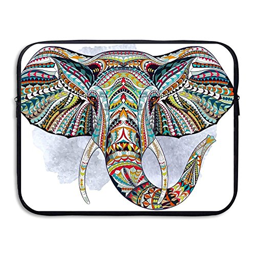 Summer Moon Fire Computer Liner Bag Ethnic Elephant Abstract Psychedelic Science Chemistry Laptop Bag Liner Bag Laptop Computer Sleeve 13 Inch Tablet Case Computer Accessories For Macbook Air Pro by Summer Moon Fire