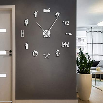Amazon.com: The Geeky Days Firefighter Giant DIY Large Wall ...