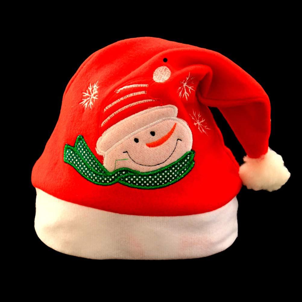 STOBOK 4 St/ücke Weihnachtsm/ütze Nikolausm/ütze Weihnachtsdeko Xmas Party Deko f/ür Kinder Erwachsene Weihnachtsmann Kost/üm Schneemann Weihnachtsmann Elch