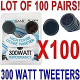 CAR TWEETERS 100 PAIR 300 WATT AudioBank NEW! SHIP FREE