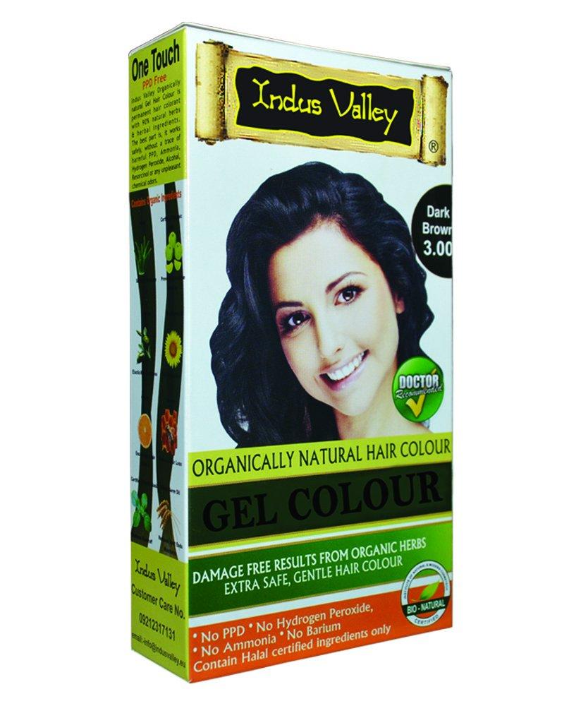 Buy Indus Valley Herbal Natural Hair Colour Dark Brown 30 35g