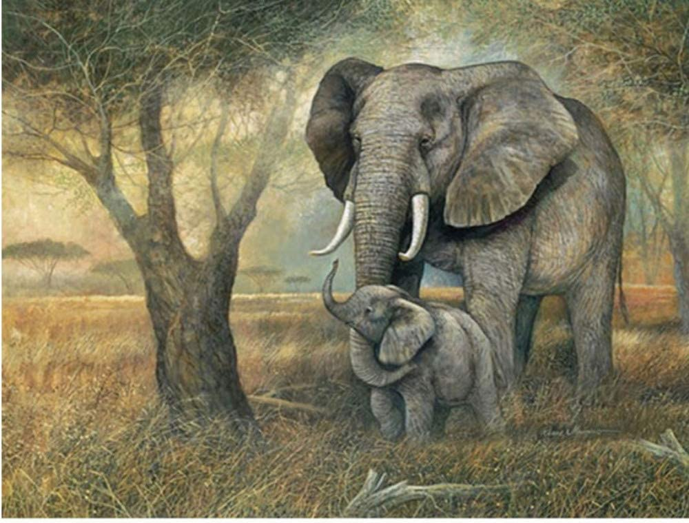 WACYDSD Pintura por Números Decoracion De Elefantes Pintura Al ...