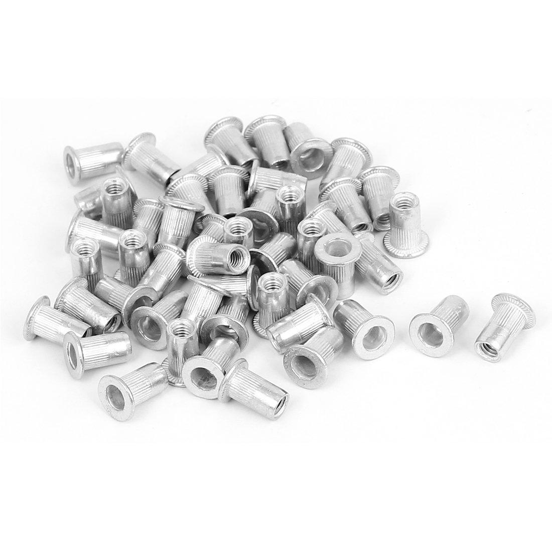 Sourcingmap/® M4/x 11/mm Aluminium Senkkopf Stift Muttern mm nutserts 50/PCS
