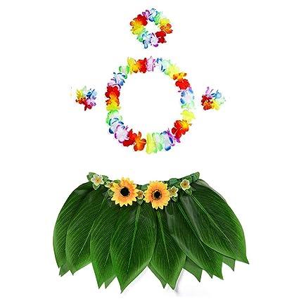 KEKEDA Traje de Cinco Piezas Falda de niña Hawaiana Vestido ...