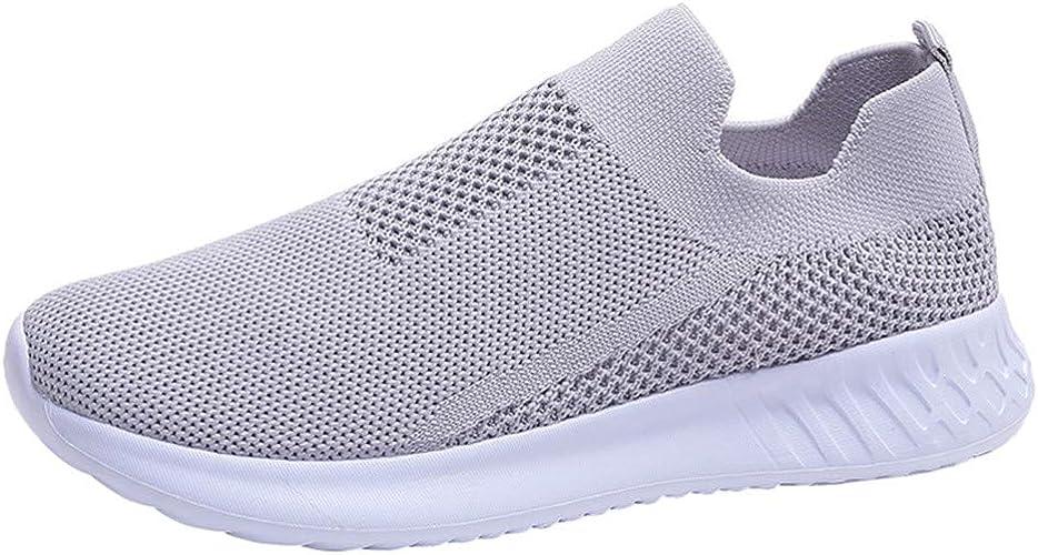 Elecenty Zapatillas Planos de Mujer Color sólido Malla Transpirable Zapatos para Correr para Estudiantes Running Calzado Deportivo Senderismo Sneakers: Amazon.es: Zapatos y complementos