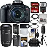 Canon EOS Rebel T7i Digital SLR Camera & EF-S 18-135mm + 55-250mm is STM Lens + 64GB Card + Case + Flash + Battery & Charger + Tripod Kit