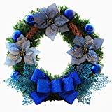 Coxeer 18 Inch Door Wreath Artificial Pine Rattan Home Hotel Christmas Decoration Door Garland