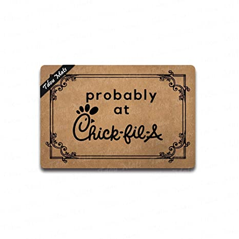 Amazon com : Tdou Probably at Chick-fil-A Doormat Entrance
