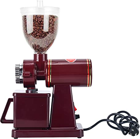 Homend Automatic 110V Electric Burr Coffee Grinder Mill Grinder Coffee Bean Powder Grinding Machine, 8 Levels of Thickness Adjustment Red