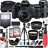 Cheap Canon T6i EOS Rebel DSLR Camera with EF-S 18-135mm f/3.5-5.6 is STM and EF 75-300mm f/4-5.6 III Dual Lens Kit and Triple Battery Tripod 2X 16GB SDHC Memory Card Accessory Bundle