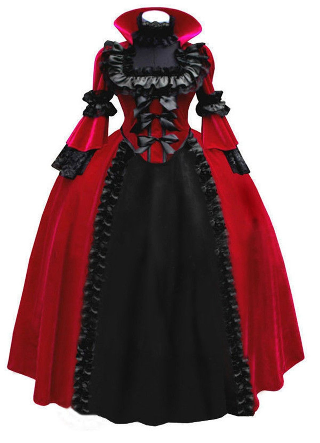 Medieval Gothic Lolita Full Long Dress Cosplay Costume Halloween Custom Made
