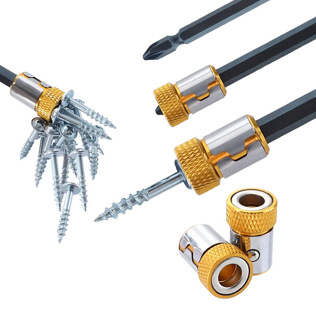 Universal Magnetized Ring,Magnetic Steel for 6.35mm Alloy Screwdriver Bits Prevents for Hex Shank Electric Screwdrive