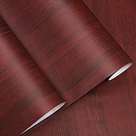 Amazon.com: Decorativo Faux grano de madera Contacto Papel ...