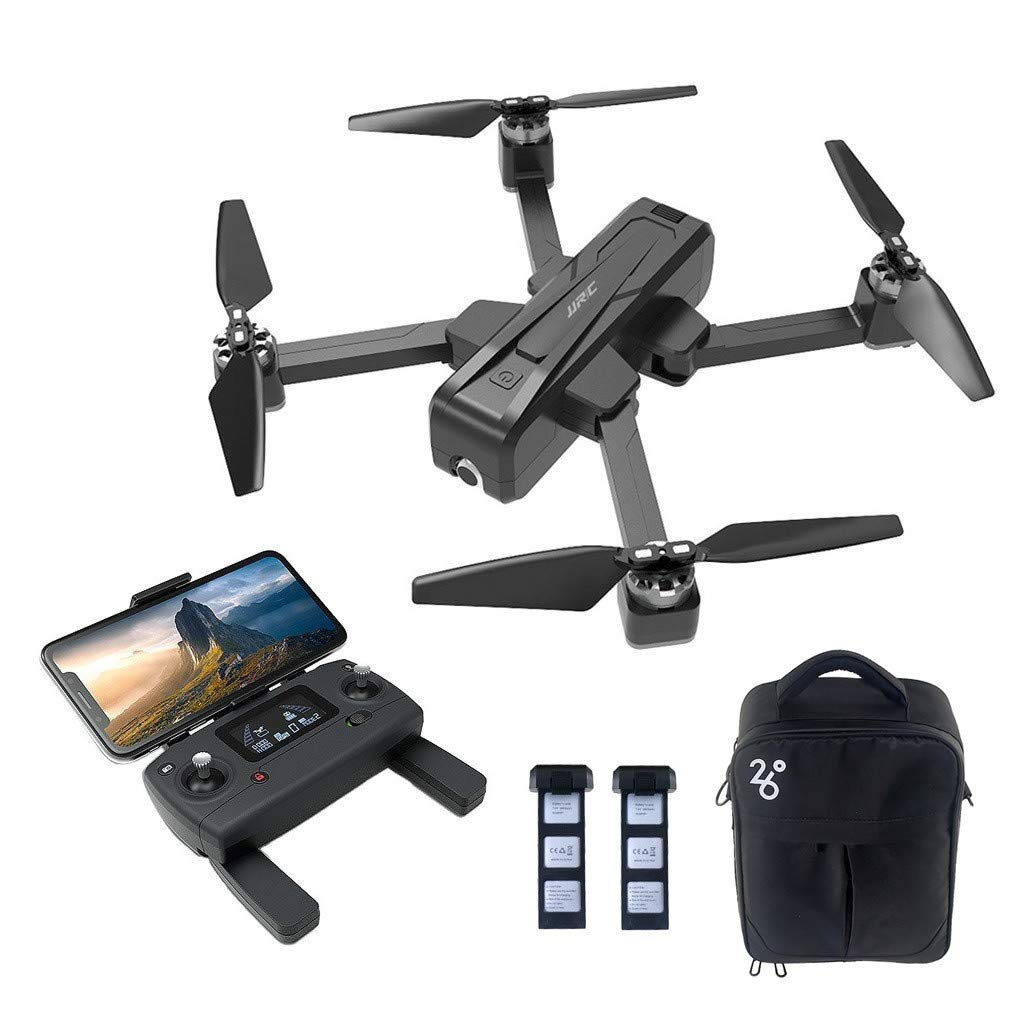 S.H.EEE JJR/C X11 5G WiFi FPV 2K GPS Brushless RC Drone with Single-axis Gimbal and Bag