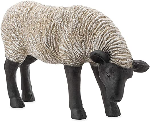 Plow Hearth Grazing Suffolk Sheep Resin Garden Statue