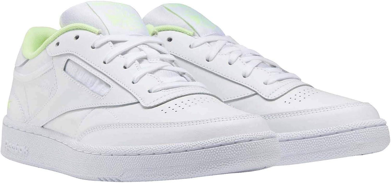 Reebok Heren Club C 85 Fashion Sneaker White White Electric Flash