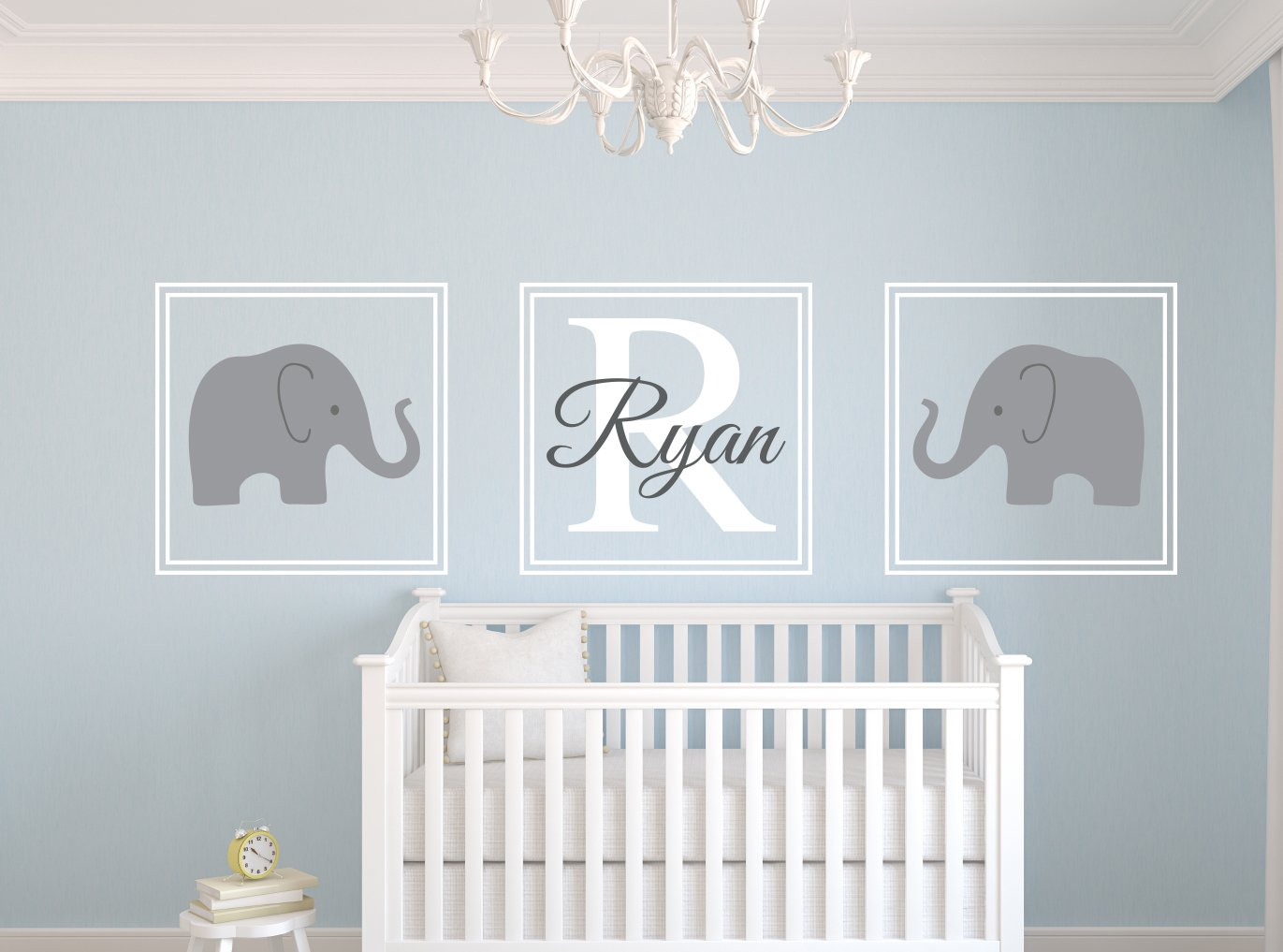 Amazon.com : Elephant Name Wall Decal Set Nursery Wall Decor : Baby