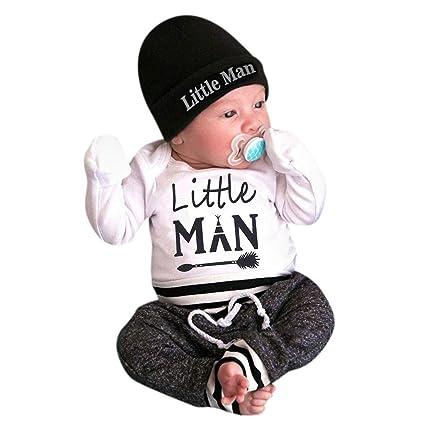 Conjunto de camiseta de manga larga para bebé y niña de 3 piezas ...