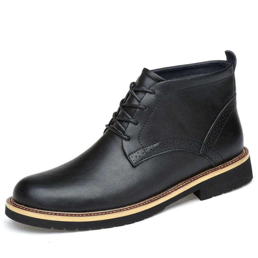Männer Schuhe Herrenstiefel, Winter British Martin Stiefel aus Leder Herren High-Top-Tooling Stiefel Plus Samt warme Herrenschuhe Herrenmode Stiefel (Farbe : EIN, Größe : 43)
