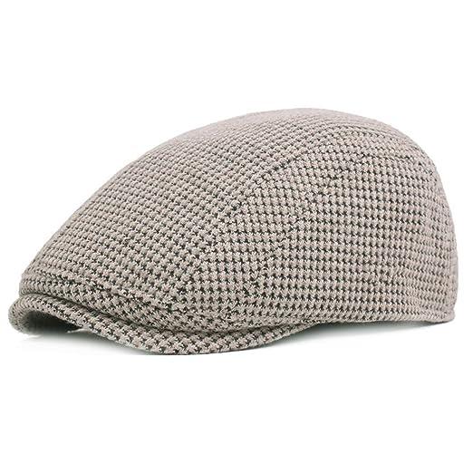 Newsboy Hat for Men Women Cotton Unisex Cabbie Gatsby Flat Cap ... 4fff9a8373ea