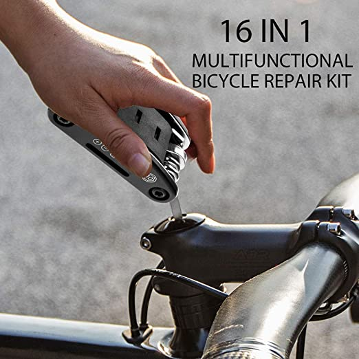 16 in 1 Multifunktions Fahrradreparatur Tool Kit Hex Speichen Radfahren Schr  JM