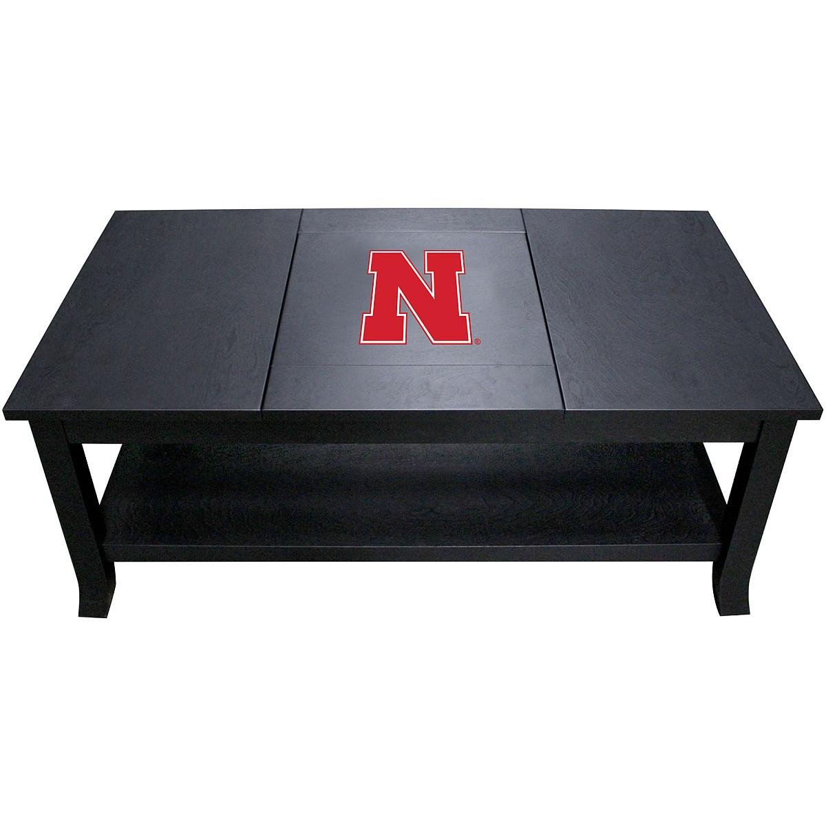 Imperial Officially Licensed NCAA Furniture: Hardwood Coffee Table, Nebraska Cornhuskers by Imperial