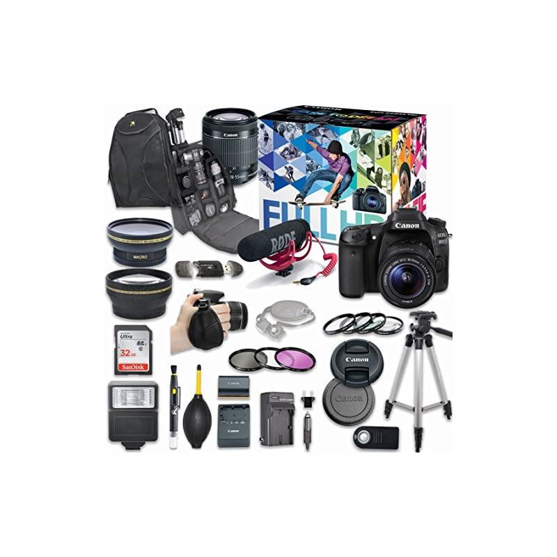 Canon EOS 80D DSLR Camera Deluxe Video C