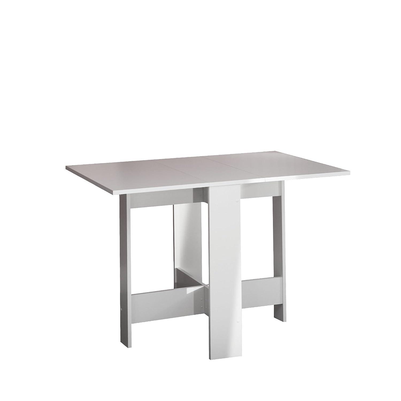 Symbiosis 2050A2100X00 Contemporain Table Pliante avec 2 Abattants Blanc 103 x 76 x 73 -4 cm