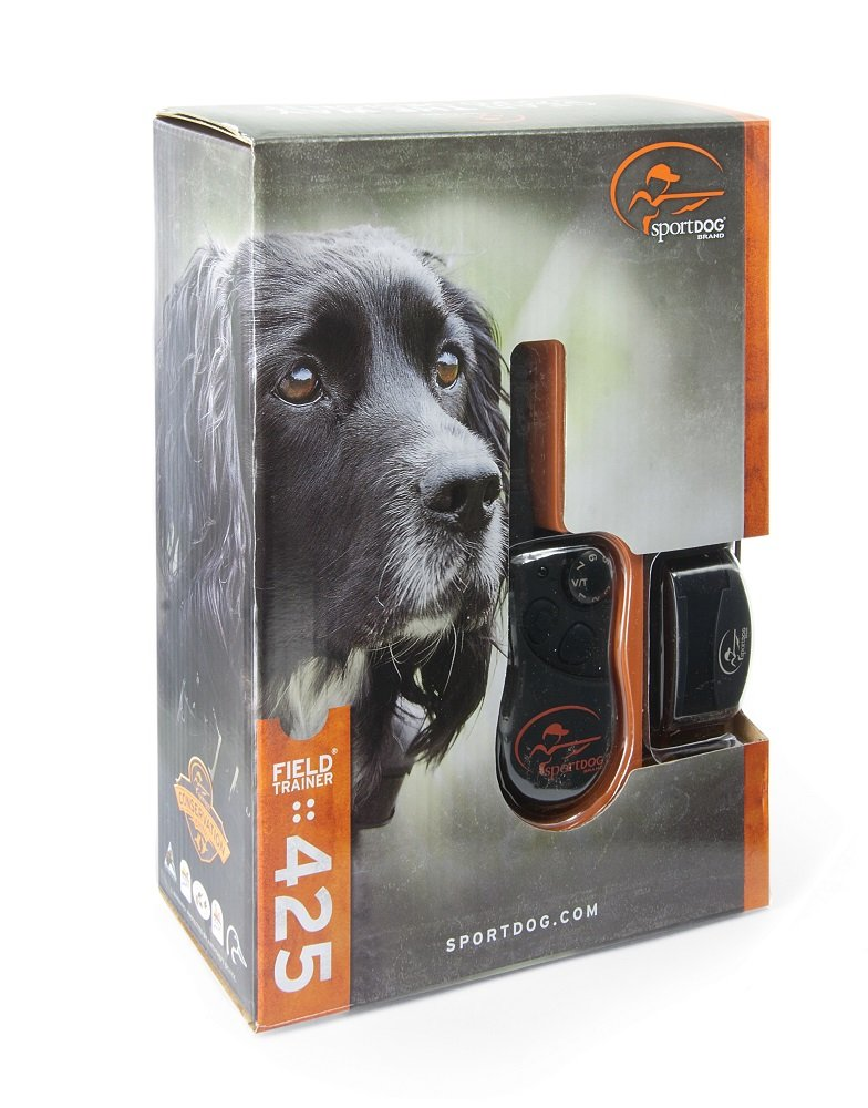 SportDOG Brand FieldTrainer 425 Remote Trainer - 500 Yard Range - Waterproof, Rechargeable Dog Training Collar with Tone, Vibration, and Shock