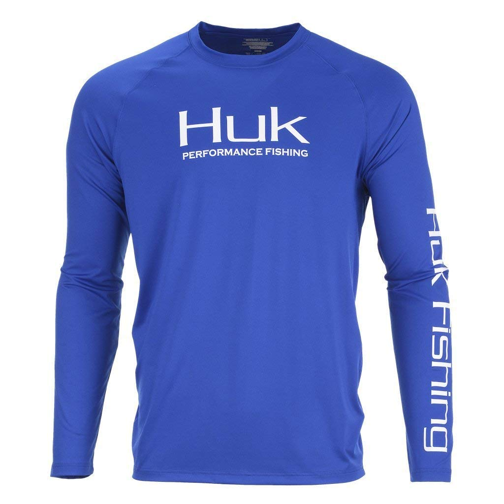 Huk Mens Pursuit Vented UPF Breathable Fishing Long Sleeve Shirt