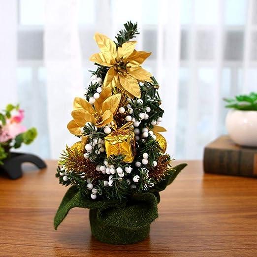 GE&YOBBY Mini árbol De Navidad Artificial,Árbol De Navidad con ...