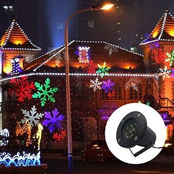 Gimify proyector copos de nieve LED exterior movimiento luz ...